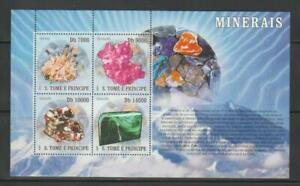 MINERAL STAMPS S TOME & PRINCIPE 2007 MINERALS  SS  MNH- MINE206