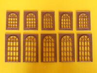 Porte e finestre a vetri in stile per edificio modellismo HO - 1:87 pz.10 - Krea