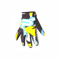 PULSE STORM KIDS MOTOCROSS MX BMX MTB MOUNTAIN BIKE GLOVE BLUE & YELLOW