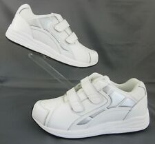 *New!* DREW Force V Dual Strap Athletic Shoes White Leather 12.5(6E) Super Wide!