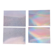 4Pcs Fishing Lure Holographic Tape 3D Adhesive Reflective Prism Lure Making