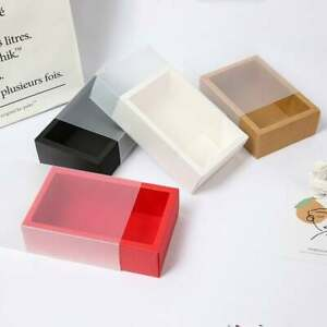 100x Clear or Matte Sleeve Paper Box Gift Box Product Packaging Box Packing Box