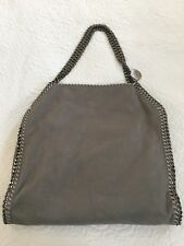 "Stella McCartney Gray Shaggy Deer Vegan Leather Chain Trim ""Falabella"" Bag"