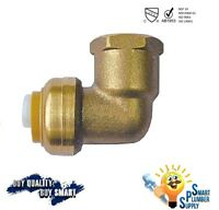 "3//4/"" Push Fit Elbow Fitting w//10yrs warranty Lead Free 114-02"