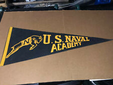 Vintage Navy large pennant Get 'em Goat US Naval Academy Felt Early Minty