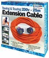 Orange 25 Mtr 230v Caravan Camping Electric Hook Up Extension Mains Lead -SWTT48