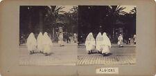 Algers Scène orientaliste Algérie Stéréo Stereoview Vintage citrate