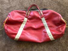Vtg RED Vinyl Gym Sports Gear Duffle Barrel Bag (Perfect for Scuba Diving)