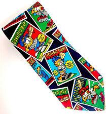 "Paws Addiction GARFIELD Neck Tie BASEBALL Navy Blue Polyester Mens 57"""