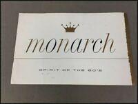 1960 Monarch Original Car Sales Brochure Catalog - Ford Mercury Sceptre Lucerne