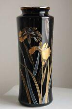 """Vintage """"Art Nouveau"""" Gold Iris Hand Painted """"FLORAL ART"""" Vase-JaNice Interiors"""