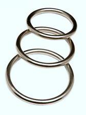 3 PACK Stainless Steel REVENGE Metal Cock Ring Set Erection Enhancer