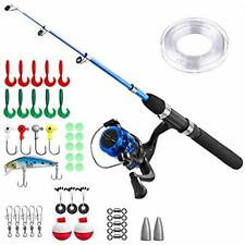 Kids Fishing Pole,Light And Portable Telescopic Rod Reel Combos For Youth 1.5M ""
