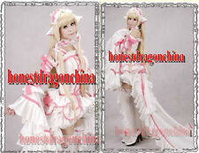 chi Chobits Sissy Cosplay Costume Gothic Lolita Black White fancy dress