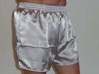 argento grigio lucido raso di poliestere BOXER S