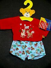 Build A Bear Rudolph Clothes pajamas set christmas clarice new  teddy