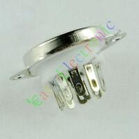 4pc 9pin Ceramic vacuum tube socket top mount valve For 12AX7 12AU7 ECC82 ECC83