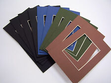 Picture Frame Mat 4x6 for 2.5x3.5 photo or ACEO set of 10 muted assortment