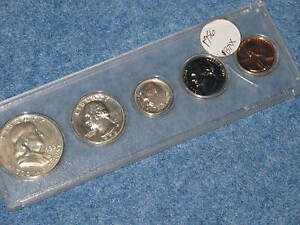 1956 United States Silver Proof Set in Whitman Lucite E0313