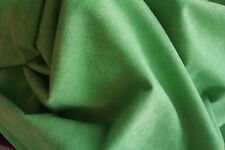 Green Brushed Velour Fabric - 150cm Wide -  New off the Roll