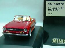 WOW EXTREMELY RARE Triumph TR6 by Karmann 2.5L 1968 Red 1:43 Minichamps-MGB