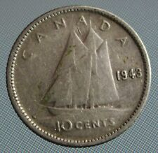 1943 Canada dime - this 10 cent coin is 80% silver