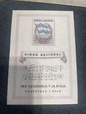 ARGENTINA 1944  National Anthem & Flag   Scott# B10- mint MLH