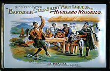 Bantaskin Highland Whiskies Blechschild Schild 3D geprägt Tin Sign 20 x 30 cm