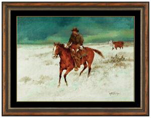Raul Gutierrez Original Oil Painting on Board Western Horse Cowboy Portrait Art