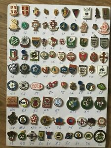 Old metal pin / badge Football Federations UEFA (part 4 - butterfly) see list