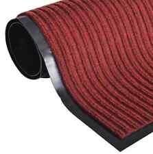 Zerbino Rosso PVC 40 x 60 cm TAPPETO co BORDO in GOMMA PVC INTERNO MOQUETTE CASA