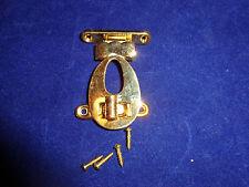 "Vintage Brass  Box Latch Set with Screws, Style 5, NOS, 2 1/2"" x 1 12"""