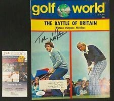 New listing 1977 JULY GOLF WORLD MAGAZINE HAND SIGNED TOM WATSON W/JSA/COA GREAT COND!!!