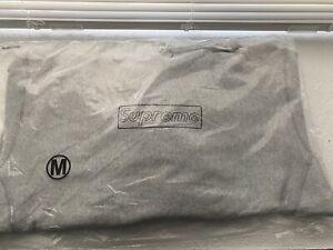 Supreme KAWS Chalk Box Logo Hooded Sweatshirt Heather Grey Medium SS21 NEW