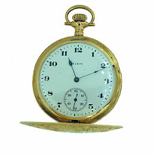 Elgin Vintage Antique Pocket Watch in Solid 14KT Yellow Gold