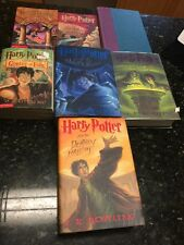 Lot of 7 Harry Potter books #1-7 J K Rowling paperbacks Scholastic 4 Hardcover