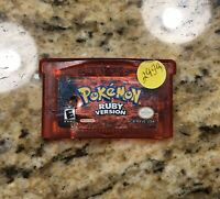 Pokemon Ruby Version Game Boy Advance ORIGINAL AUTHENTIC New Save Battery