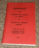 Ohio Bell Telephone Company CWA Contract 1963/1964/1965 BOOK Communication union