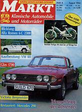 Markt 8/92 1992 ABC Motorrad Alfa 6C 2300 B Dürkopp Fratz Glas 1700 VW 181 Stag