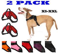 2 PACK Dog Pet Vest Harness Strap Adjustable Nylon Small Medium Large XL No Pull