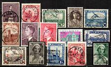 BELGIQUE - lot de timbres anciens et différents  - lire la description