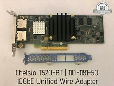 Chelsio T520-BT Dual-Port 10GbE Unified Wire Adapter, MSIP-REM-CC2-T520-BT