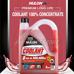 Nulon Red Concentrated Coolant 5L for Toyota Landcruiser RAV4 4WD Rukus Yaris
