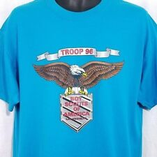 Boy Scouts Of America Mens T Shirt Vtg 90s Las Vegas Troop 96 Bald Eagle Large