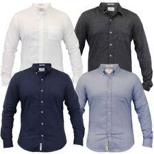 Camisas casuales de hombre de manga larga con algodón