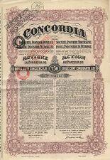 CONCORDIA Rumänische AG für Öl-Industrie, Bukarest – Aktie, 250 Lei – 1924
