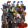 20 PCS Minifigures lego MOC Medieval Knights Crusader Rome Commander Super Hero