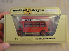 """AFFAIRE: Y - 23 1922 A. E.C. """"S"""" TYPE OMNIBUS-Wright PROMO LIMITED EDITION"""