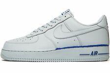 🔥 Nike Air Force 1 07 ®  ( Men UK Size 11 EUR 46 )  Wolf Grey Royal Leather