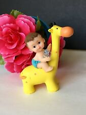 1PC Baby Shower Giraffe Cake Topper Decorations Animals Safari Figurines  Jungle